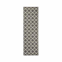 Behúň v sivej farbe s bielymi detailmi Hanse Home Joanne, 80×450 cm