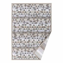 Béžový vzorovaný obojstranný koberec Narma Luke, 70 × 140 cm