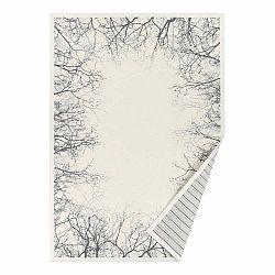 Biely vzorovaný obojstranný koberec Narma Puise, 140 × 200 cm
