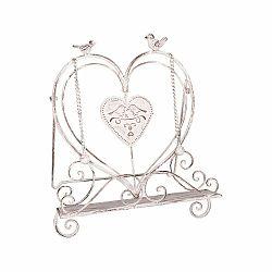 Biely železný stojan na knihu Antic Line Sweet Love