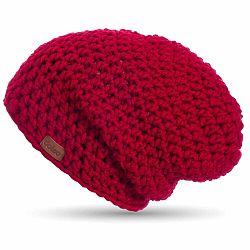 Červená ručne háčkovaná čiapka DOKE Mary B
