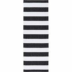 Čierno-biely behúň vhodný do exteriéru Narma Birkas, 70 × 150 cm