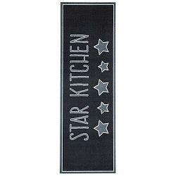 Čierny kuchynský koberec Hanse Home Star, 50×150cm