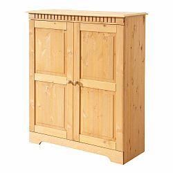 Dvojdverová skrinka z masívneho borovicového dreva Støraa Candice