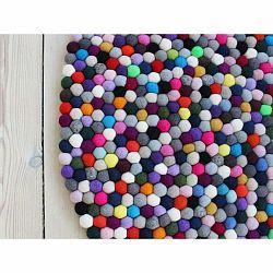 Guľôčkový vlnený koberec Wooldot Ball rugs Multi Pang, ⌀ 200 cm