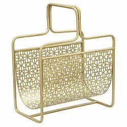 Kovový stojan na časopisy v zlatej farbe Mauro Ferretti Trivola