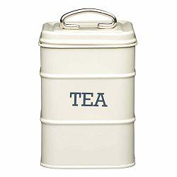 Krémová plechová dóza na čaj Kitchen Craft Nostalgia
