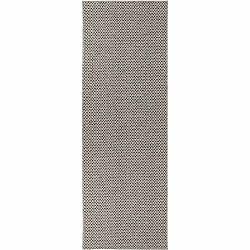 Krémovo-čierny behúň vhodný do exteriéru Narma Diby, 70 × 350 cm