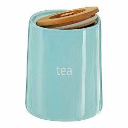 Modrá dóza na čaj s bambusovým vrchnákom Premier Housewares Fletcher, 800 ml