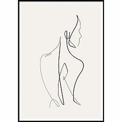 Nástenný plagát v ráme SKETCHLINE/NAKED, 50 x 70 cm