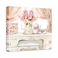 Obraz Styler Canvas Watershabby Pink, 32 × 32 cm
