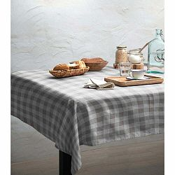 Obrus Linen Couture Grey Vichy, 140 x 200 cm