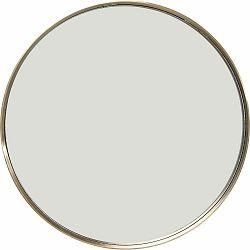 Okrúhle nástenné zrkadlo s rámom vo farbe mosadze Kare Design Curve, Ø 60 cm