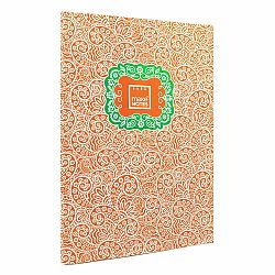 Oranžový osobný organizér A4 Makenotes Paisley One, 40 listov