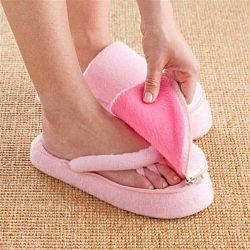 Ružové papučky na pedikúru z pamäťovej peny InnovaGoods