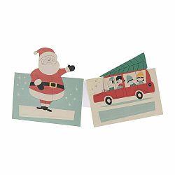 Sada 6 menoviek s vianočným motívom Rex London Festive Family