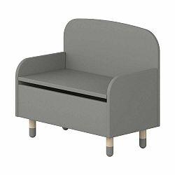 Sivá úložná lavica s opierkou Flexa Play