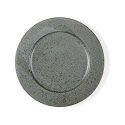 Sivý kameninový plytký tanier Bitz Mensa, priemer 27 cm