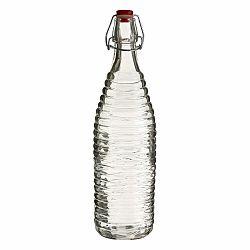 Sklenená fľaša Premier Housewares Clip, výška 32 cm