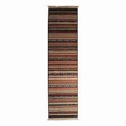 Vzorovaný behúň Zuiver Nepal Dark, 67×245 cm