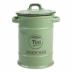 Zelená keramická dóza na čaj T&G Woodware Pride of Place