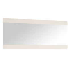 Zrkadlo veľké, biela extra vysoký lesk HG, LYNATET TYP 121