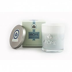 Arome Vonná sviečka s viečkom Woody sage and Sea salt, 200 g