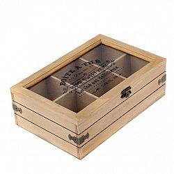 Box na čajové vrecúška, 24 x 8 x 16 cm