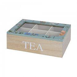 Box na čajové vrecúška Kvetina, modrá
