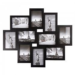 Fotorámček Sultan na 10 fotografií 10 x 15 cm, čierna, 49 x 59 cm