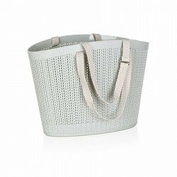 Happy Green Ratanová taška, sivá