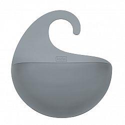 Koziol Kúpeľňový závesný box Surf M antracitová 6,5 x 21,6 x 25,3 cm