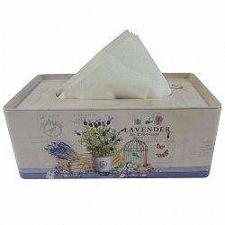Plechový box na vreckovky Levanduľa, 24 cm