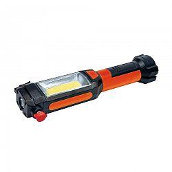 Solight WL112 Multifunkčné LED svetlo 3 W COB + 1 W LED, oranžová