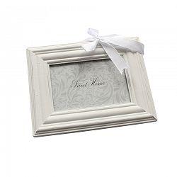 Závesný fotorámček biela, 9 x 13 cm